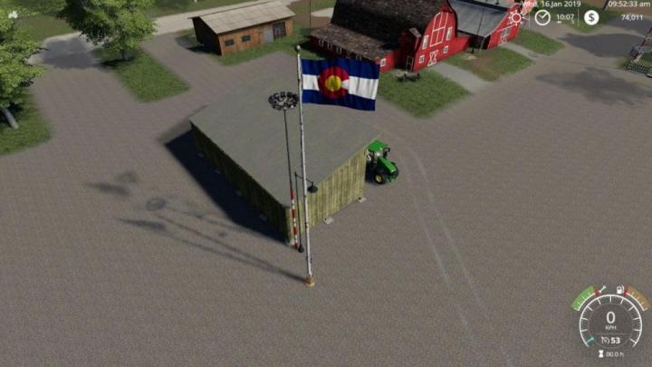 Trending mods today: FS19 Colorado Flag v1.0.0.0