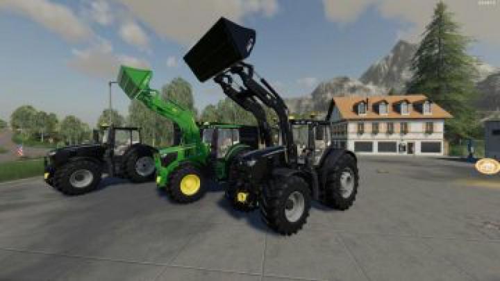 Trending mods today: FS19 John Deere 6R + 643R Green + Black Pack v1.0
