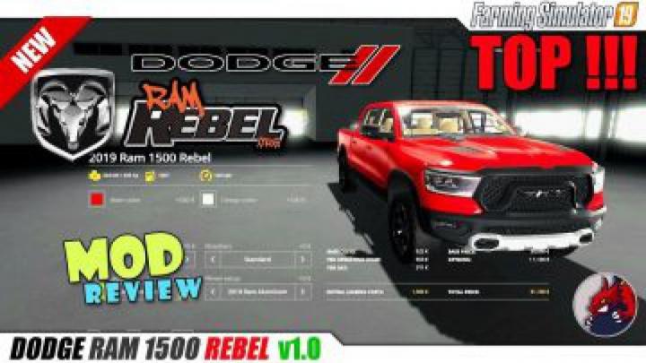 Trending mods today: FS19 Dodge Ram 1500 Rebel v1.1