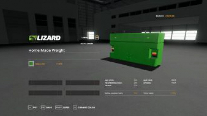 Trending mods today: FS19 Home made weight with multicolor V1.0