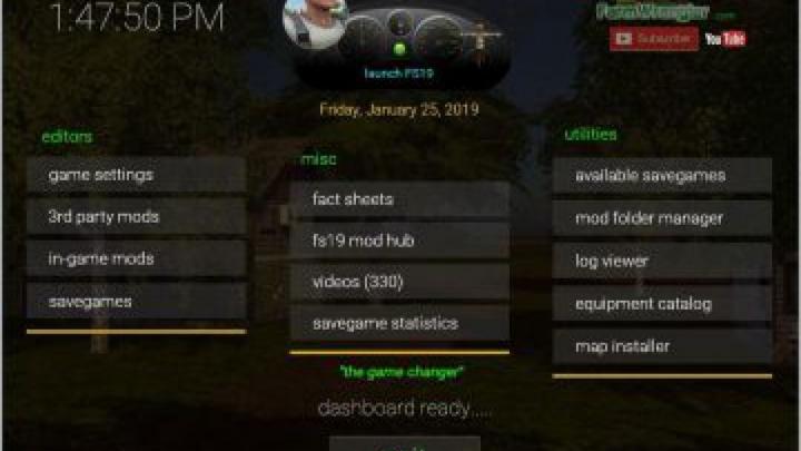 Trending mods today: FS19 Dashboard v1.5