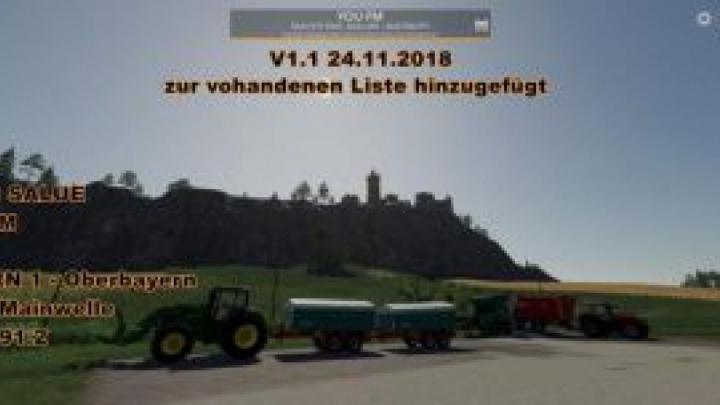 Trending mods today: FS19 Radio Streams Germany v1.6