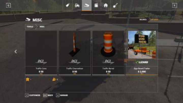 Trending mods today: FS19 Accident ahead sign beta