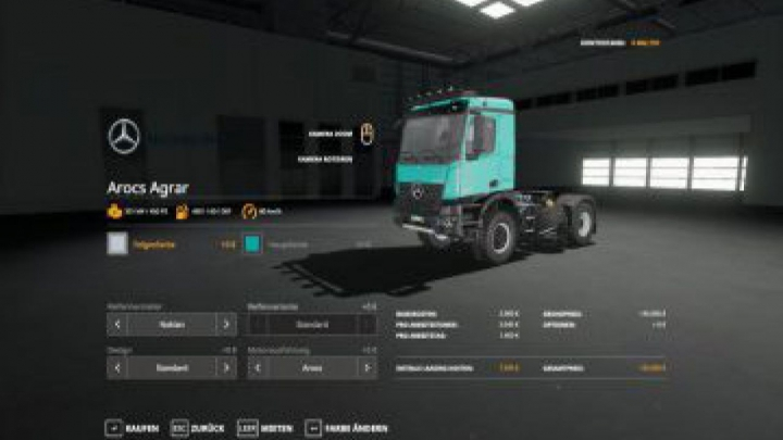 Trending mods today: FS19 Mercedes Arocs Agrar v3.0