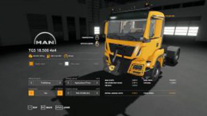 trucks FS19 MAN TGS Mod v1.0.0.3