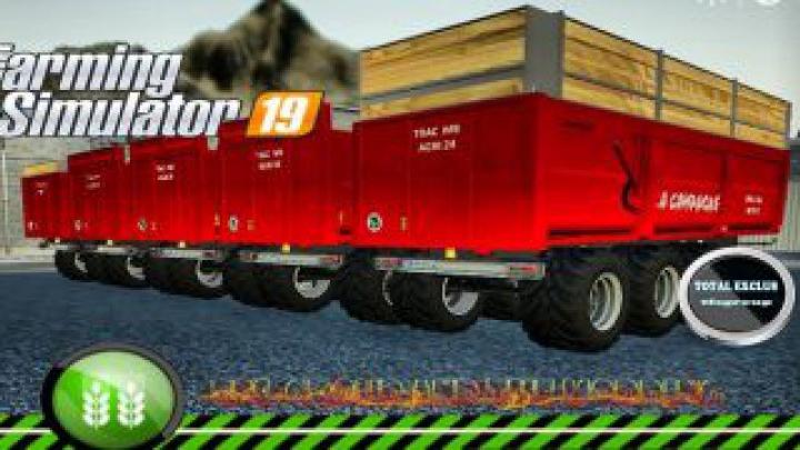 trailers FS19 LA CAMPAGNE BOIS 24T v1.0