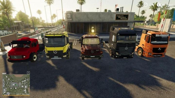 Trending mods today: FS19 Mercedes Trucks Pack v1.0