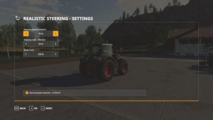 Trending mods today: FS19 Realistic Steering v1.0.0.0