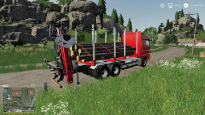 trucks FS19 MAN Forst LKW with Autoload Wood v3.0