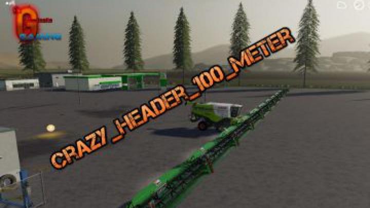 Trending mods today: FS19 Crazy Header 100 Meter v1.0