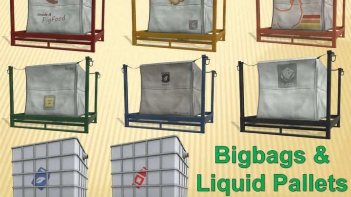 Trending mods today: FS19 Bigbags & Liquid Pallets v1.2