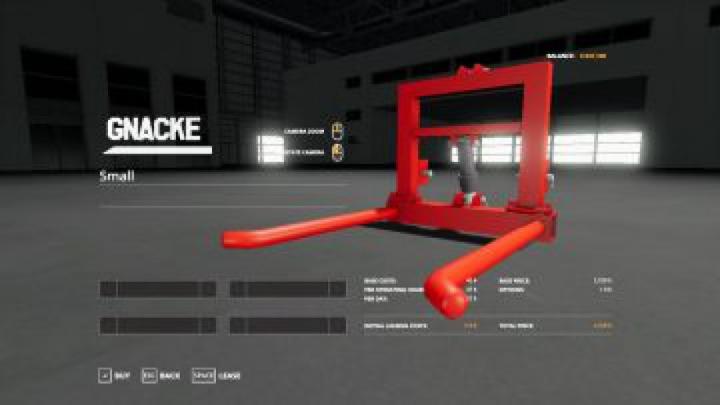tools FS19 Gnacke Bale Carrier beta