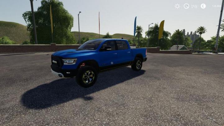 Trending mods today: FS19 Dodge Ram 1500 blue flashing beacon v1.0