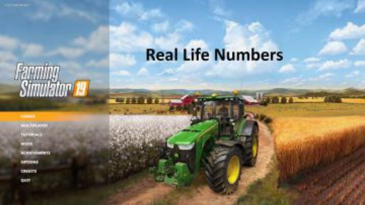 Trending mods today: FS19 Real Life Numbers US Heartland v1.1.3.0