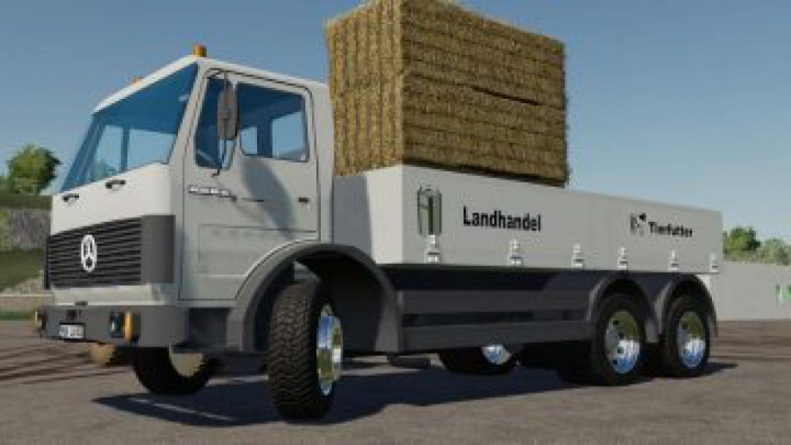 trucks FS19 MB SK 1632 flatbed v1.0