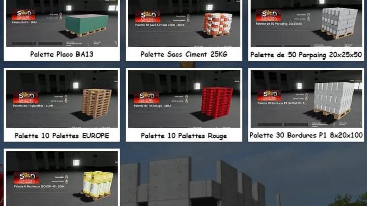 Trending mods today: FS19 Pallet pack