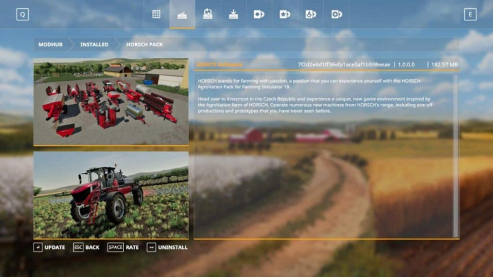 Trending mods today: FS19 Horsch Pack (DRL) v1.1.0