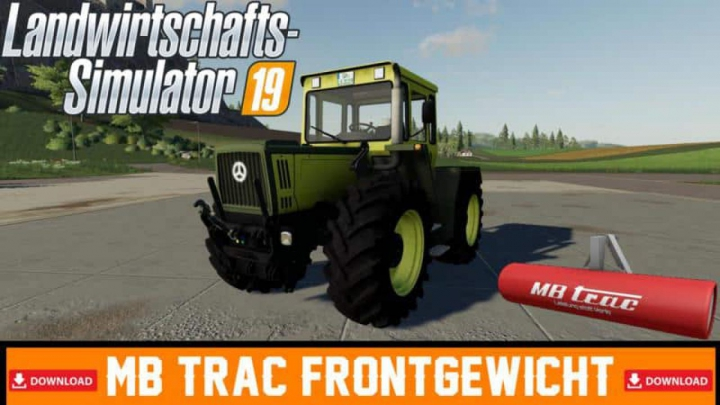 Trending mods today: FS19 MB TRac front weight v1.0
