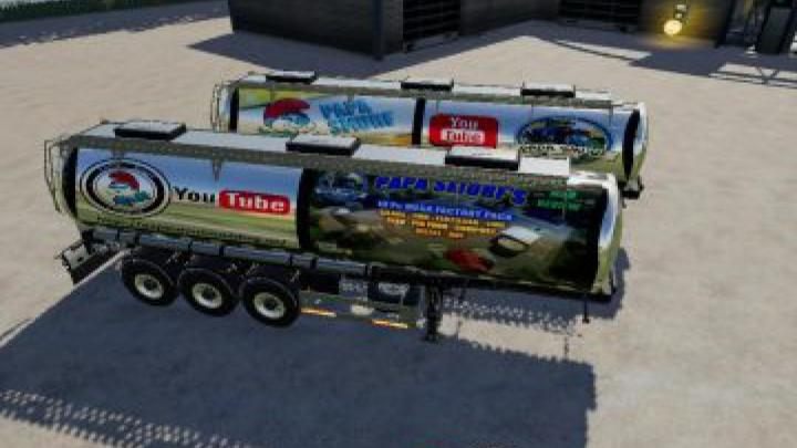 trailers FS19 Trailer papa smurf v1.0.0.6