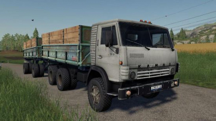 Trending mods today: FS19 KAMAZ 5320 with trailer GBK-8551