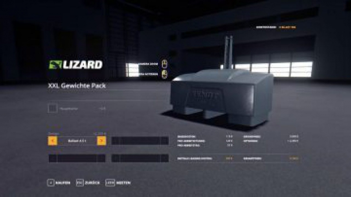 tools FS19 XXL weights pack v1.1.1.2