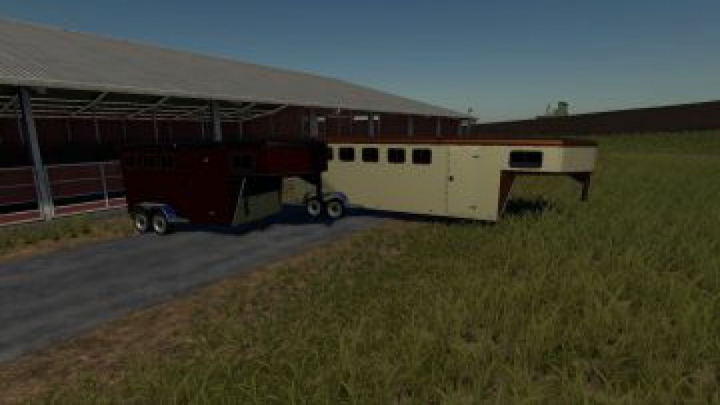 Trending mods today: FS19 EXP19 3 and 6 horse trailers v1.0