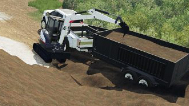 Trending mods today: FS19 EXP19 DumpTrailer and KST Mini EX v1.0