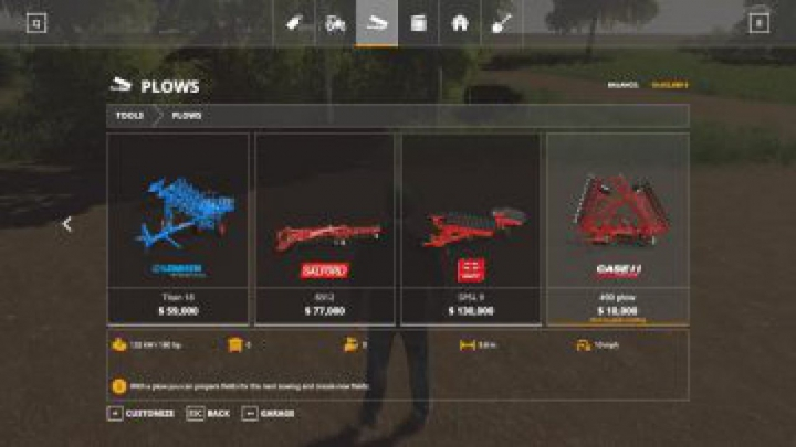 FS19 Case IH plow USA style v1.0 category: tools