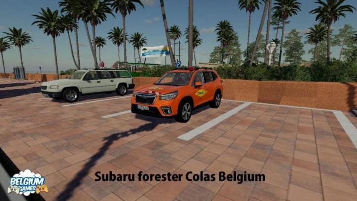 Trending mods today: FS19 Subaru Forester Colas Belgium Skin v1.0