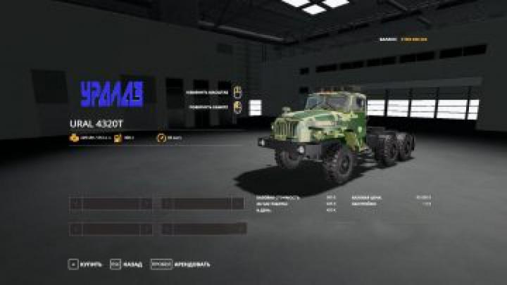 Trending mods today: FS19 Ural-4320T Truck
