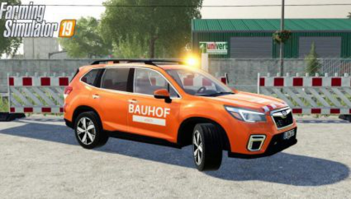 Trending mods today: FS19 Subaru Forester Bauhof Weber with rotating beacon