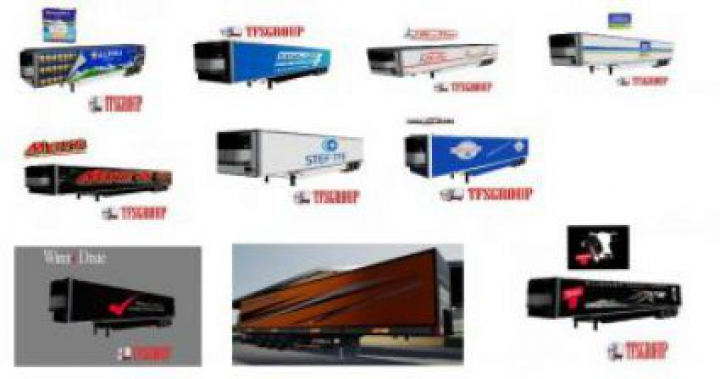 Trending mods today: FS19 Refrigerated industrial trailer PACK v1.5