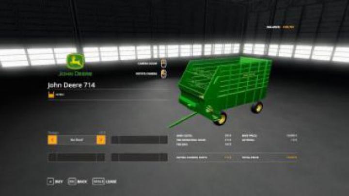 trailers FS19 John Deere 714 Forage Box v1.0
