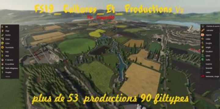 Trending mods today: FS19 Cultures et Productions v2.0