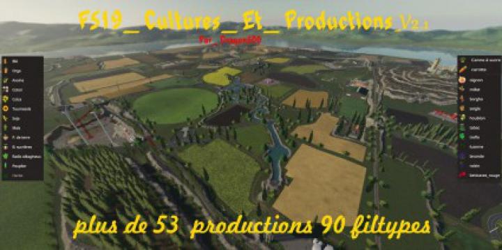 Trending mods today: FS19 Cultures Et Productions v2.1