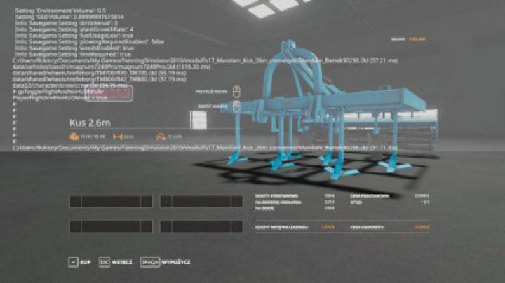 Implements & Tools MANDAM KUS 2.6M v1.0.0.0