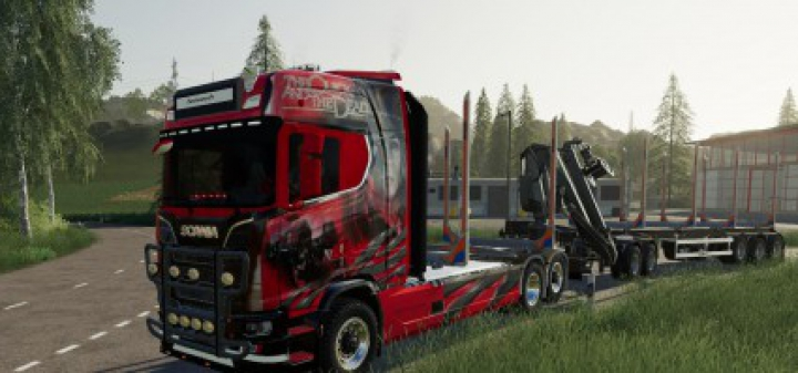 Trending mods today: Scania woodtruck and trailer v1.1