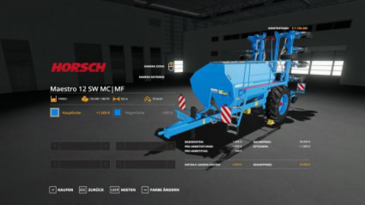 Implements & Tools Horsch Maestro 12SW MultiFruit | Color v1.1