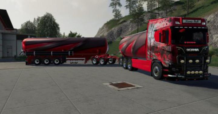 Trucks Scania Bulk and trailer v1.0