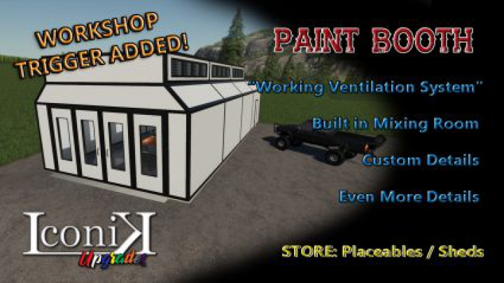 Trending mods today: Iconik Paint Booth v2
