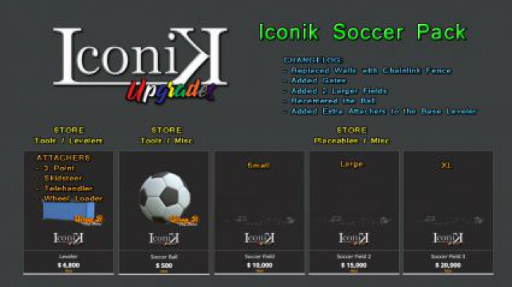 Trending mods today: Iconik Soccer Pack