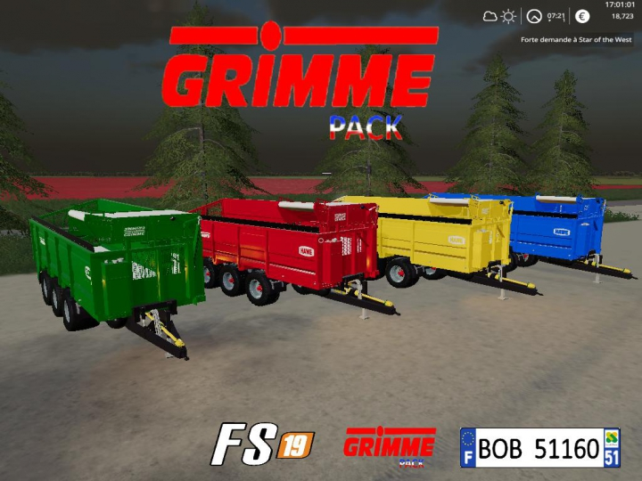 Trending mods today: FS19 Grimme Pack By BOB51160 v1.1