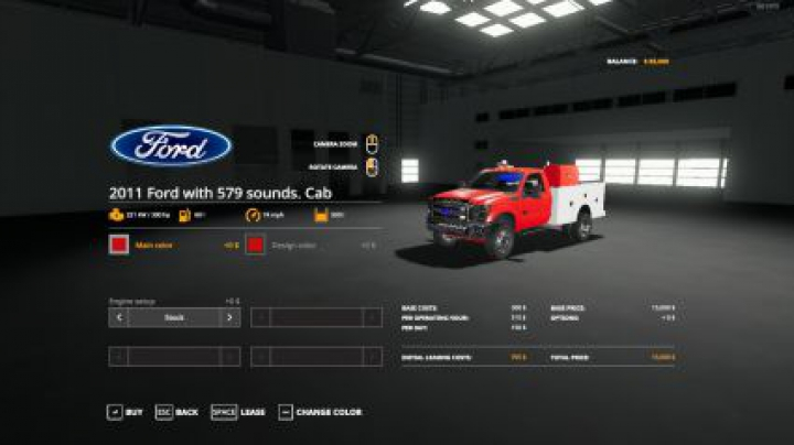 Trending mods today: Ford Service Truck 2011 with a 579 sounds