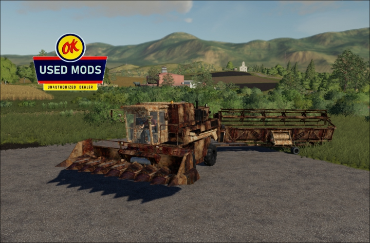 Trending mods today: Used SK10 Potop Harvester With Headers and Trailer Rusty V1.0 - By: OKUSEDMODS