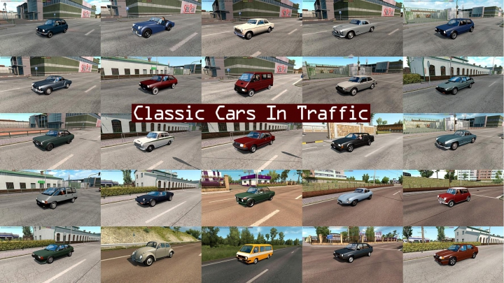 Trending mods today: Classic Cars Traffic Pack by TrafficManiac v4.8