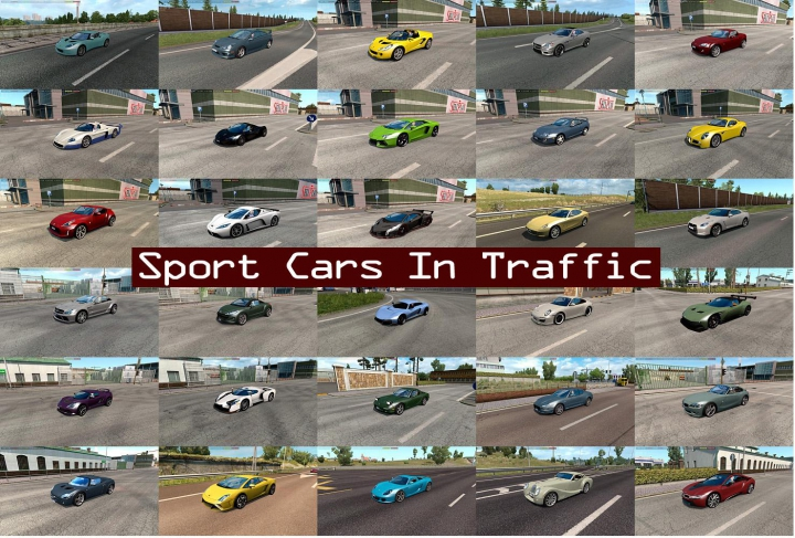 Trending mods today: Sport Cars Traffic Pack by TrafficManiac v6.1
