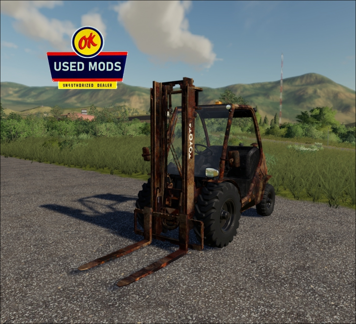 Trending mods today: Used Toyota Fork Lift V1.0 Rusty - By: OKUSEDMODS