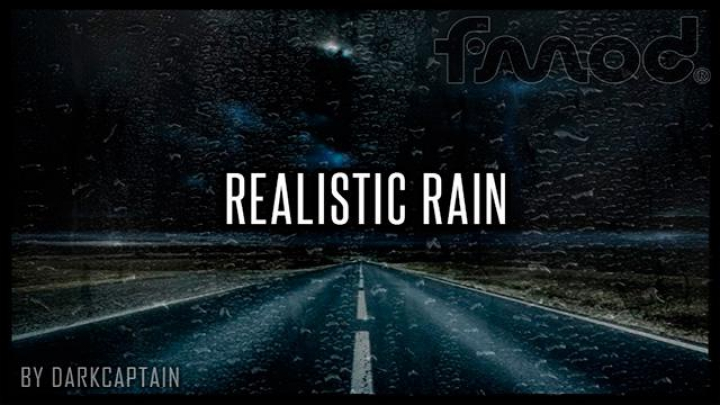 Trending mods today: Realistic Rain v3.4.1 ETS2 1.37
