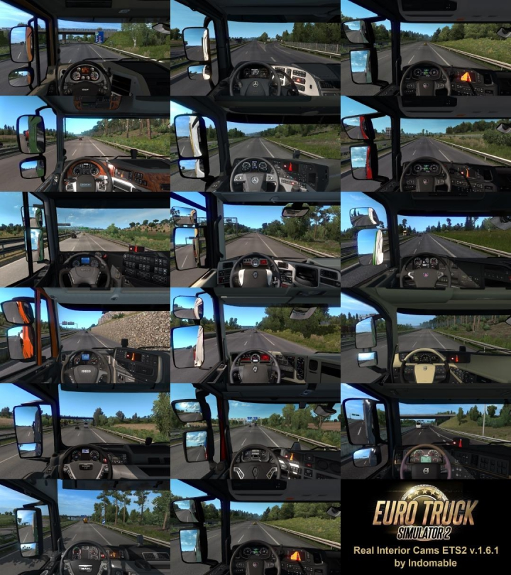 Trending mods today: Real Interior Cams ETS2 v1.6.1