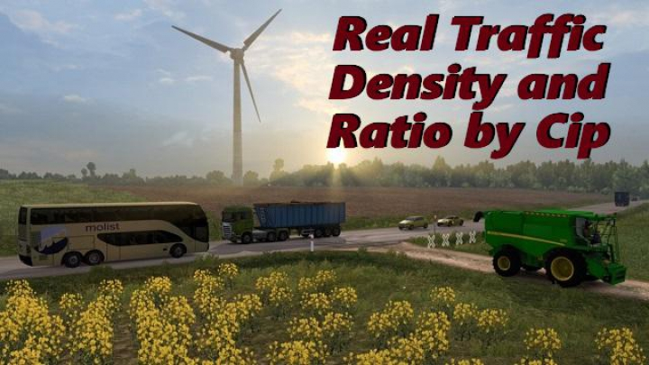 Trending mods today: Real Traffic Density by Cip ETS2 1.37.a